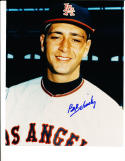 Bo Belsinsky Los Angeles Angels Color Signed Baseball 8x10 photo d.01