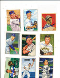 1952 Bowman 32 Eddie Miksis Chicago cubs Signed card d05