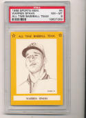 1968 Warren Spahn Braves All Time Baseball Team psa 8 #4