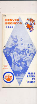 1966 Denver Broncos AFL  press media guide binder edition
