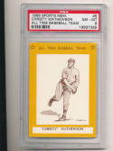 1968 Christy Mathewson Giants  All Time Baseball Team psa 8 #5