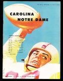 1956 11/17 North Carolina vs Notre Dame football  program