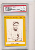 1968 Lou Gehrig  All Time Baseball Team psa 8 #12