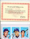 3 uncut 1954 Topps Baseball Archive cards Baumholtz Aloma Cavarretta cubs sheet