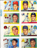 Bill Glynn Cleveland Indians 39 1955 Topps Signed