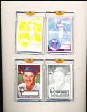 Two 1952 Topps Baseball reprint proofs Birdie Tebbetts cleveland Indians
