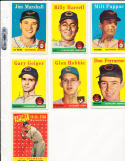 1958 Topps 443 Billy Harrell Cleveland Indians card