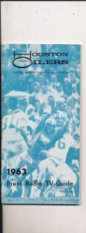 1963 Houston Oilers AFL  press media guide