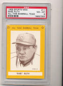 1968 Babe Ruth Yankees  All Time Baseball Team psa 8 #11