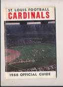 1966 st. Louis Cardinals  NFL  press media guide