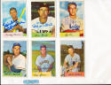1954 Bowman signed 179 Morris Martin a's