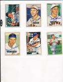 1951 Bowman signed 187 Al Rosen Indians vg