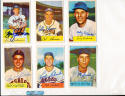 1954 Bowman signed 44 Harry Perkowski reds