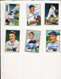 1951 Bowman signed 97 bob Kuzava Washington Senators