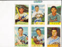 1954 Bowman signed card 53 Don Lenhardt orioles em