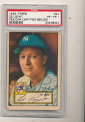 1952 topps signed Ed Lopat New York Yankees #57  psa/dna d92