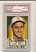 1952 topps #143 Less Moss signed st. Louis Browns  psa/dna