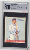 1933 Goudey Lloyd Waner Pittsburgh Pirates GAI em 6