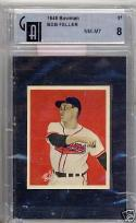 1949 Bowman Bob Feller Indians gai 8 nm