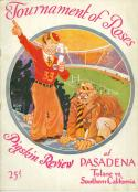 1932 Rose Bowl football program Tulane vs USC