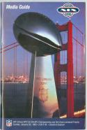 superbowl XIX 49ers Dolphins  nm Football Guide - box - nm ftguide2