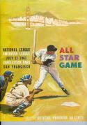 1961 all star game program scored