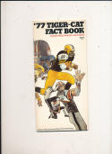 1977 Hamilton Tigers CFL Football Media Guide