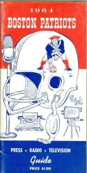 1964 Boston Patriots AFL Press Media Guide em