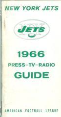 1966 New York Jets AFL Press Media Guide em