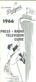 1966 Los Angeles Dodgers press media guide