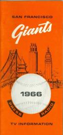 1966 San Francisco Giants press media guide   em/nm