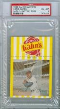 1968 Kahn's Hank Aaron Braves psa 8 mt baseball card