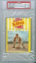 1968 Kahn's Max Alvis Indians psa 8 mt baseball card
