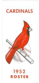 1952 St. Louis Cardinals Spring Training Press Roster