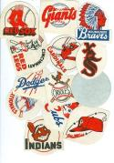 1955 post cereal 15 baseball patches complete set 2 ed.