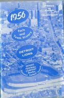 Detroit Lions 1956  press media guide em