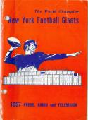 New York Giants 1957  press media guide em (binder)