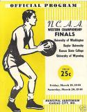 1948 NCAA Western Finals Basketball Program Washington