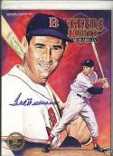 Ted williams signed gold plated Legend Magazine letter