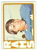 1972 Jack Snow Signed 152 rams card deceased 2006