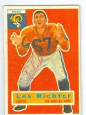 Les Richter 1956 Topps Signed 30 died 2010 football card