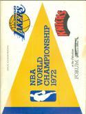4/30 1972 NBA Lakers vs Knicks championship Program game 2