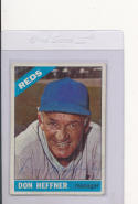 Don Heffner Reds Signed 1966  Topps baseball #269  died 1989
