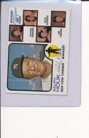 Ralph Houk jim hegan  Signed 1973  Topps baseball #116