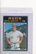 Sparky Anderson Reds Signed 1971  Topps baseball #688  died 2010