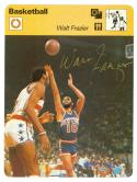 Walt Frazier Basketball Sportscaster Card signed