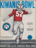 1964 Kiwanis Bowl St. Louis Cardinals vs. Washington Redskins Program