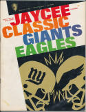 1967 Jaycee Classic Giants vs. Eagles Sixth Annual Princeton, New Jersey Program