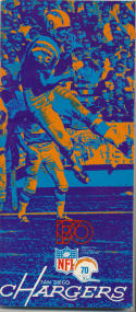 1970 San Diego Chargers Media Guide