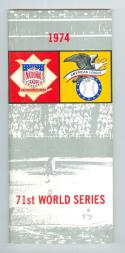 1974 World Series Press Media Guide in em/nm shape